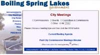 City of Boiling Spring Lakes website