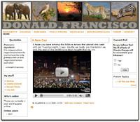 DonaldFrancisco.com website